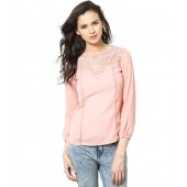 The Vanca Pink Solids Cotton Full Regular Tops