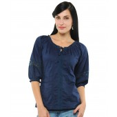 Unique Fashion Navy Blue Top