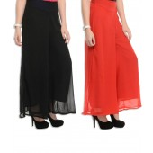 Vastra Multicolor Georgette With Stretch Palazzos