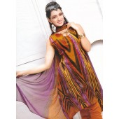Vibrant Multicolored Cotton Churidar Suit 1