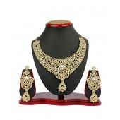 Vk Jewels Ravishing Gold Plated Necklace With Earrings