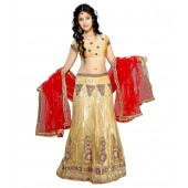 Vogue Era Multicolour Net Semi Stitched Lehengas