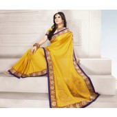 Yellow Designer Indian Saree